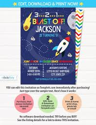 Space Party Invitation Space Party Invitations Space Themed Party Outer Space Birthday Party Invitations Rocket Party Space Birthday Instant Access