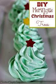diy meringue christmas trees