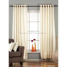 indian selections cream ivory ring grommet top 90 blackout curtain d