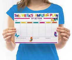 Printable Weekly Planner Pdf Diy Organiser To Do List Weekly Schedule Goal Planner Weekly Agenda Student Planner Business Planner