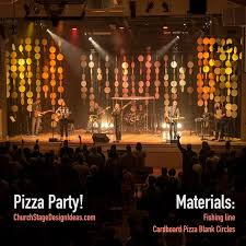 church lighting ideas. stage decoration idea but cover circles in the mirror paper church lighting ideas