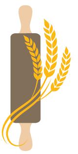 Free Online Logo Creator - Create Rolling Pin Bakery Logo Design