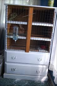 diy bunny hutch from a dresser with additional storage via themobilehomewoman com