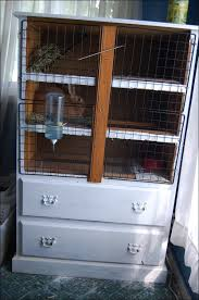diy bunny hutch from a dresser with additional storage via themobilehomewoman com