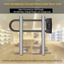 u shaped double open glass door lock