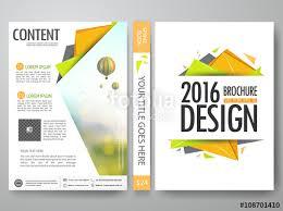 Presentation Flyers Brochure Design Template Vector Flyers Annual Report