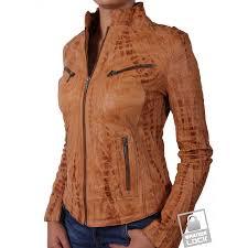 las croc tan leather biker jacket ciara