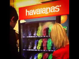 Havaianas Vending Machine Locations Mesmerizing Havaianas Vending Machine The Galeries YouTube