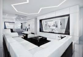 modern black white.  black black and white living room and modern e