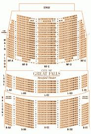 Great Woods Seating Chart Mansfield Theater Seating Chart City Of Great Falls Montana