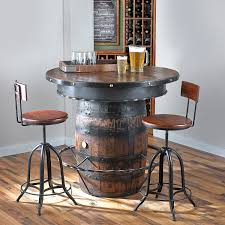 furniture tennessee whiskey barrel pub table preparing zoom