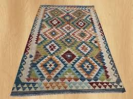 new afghan chobi hand woven veg dyed wool kilim area rug 5 x 3 ft