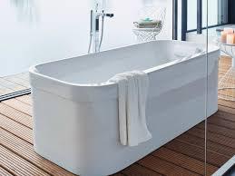 freestanding oval acrylic bathtub happy d 2 freestanding bathtub by duravit
