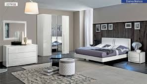 ESF Dama Bianca Glossy White Leather Queen Bedroom Set 5 Modern Made ...