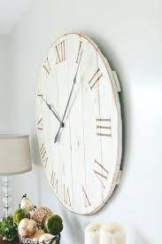 36 wall clock inch wall clock inch wall clock simple white finished of wooden wall 36 36 wall clock