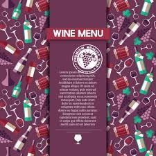 Wine Menu Card Template Vector Free Download