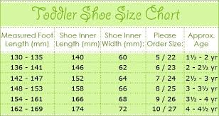 Uk Shoe Size Chart Child Size Guide Measure Childs Feet Items In Childrens Shoe Size