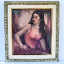 Lillian Rhodes Oil Painting of a Spanish Woman | EBTH