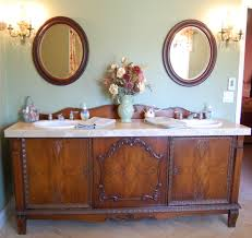 Old World Bathroom Decor Remarkable Antique Mahogany Vanity Decorating Ideas Images In