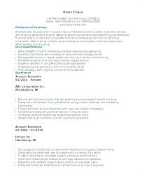 Sample Resume Account Executive Sample Resume For Account Executive Sample Professional Resume