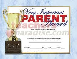 parenting certificate templates vip very important parent award parent appreciation ideas pinterest