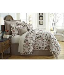 villa by noble excellence gianna floral cotton  linen comforter