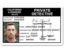 Pvc C510pvc Id Detective Private Card