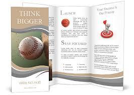 Baseball Brochure Template Baseball Ball In Flight Brochure Template