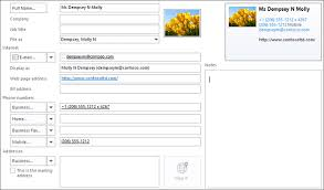 Phone Message Template For Outlook 2010 Add A Contact Outlook