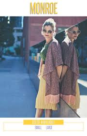 Lularoe Monroe Kimono Sizing Chart Kimono Fashion Outfits