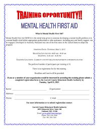 home garrett county health department mental health first aid