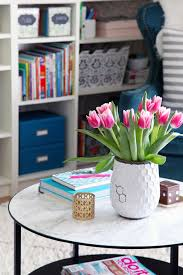 decorating furniture with paper. Round-coffee-table-marble-paper-makeover Decorating Furniture With Paper I