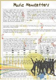 Music Newsletter Templates Music Newsletters Party Template