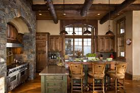 Rustic Kitchen Lighting Innovative Rustic Kitchen Design On Decoration Kitchen Island