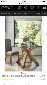 next oak and glass dining table