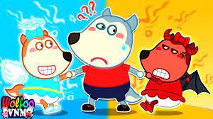 Thiên thần vs Ác quỷ - Lucy là ai? Phim gia đình vui nhộn cho bé   Phim  Hoạt Hình Wolfoo Tiếng Việt - YouTube