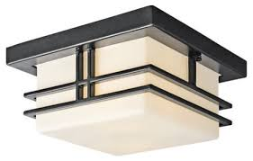 kichler modern two light outdoor flush mount ceiling