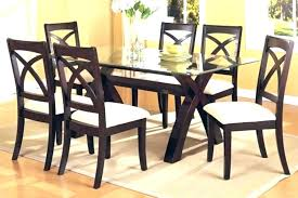 rectangle glass dining room table sets