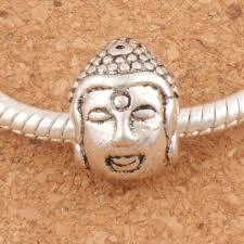 Голова Будды 4.5 мм религиозной большая дыра бусины <b>45pcs</b> ...