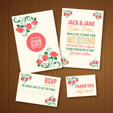 Wedding Invitations Template Photoshop Vectors