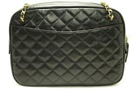 CHANEL Chain Shoulder Bag Black Leather Quilted Lambskin Office ... & ... CHANEL Chain Shoulder Bag Black Leather Quilted Lambskin Office 952 ... Adamdwight.com
