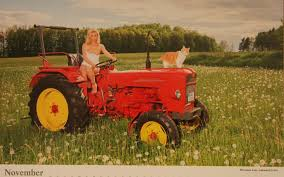November Calendar Pose Naked Farm Babes Pose With Desirable Tractors In Raunchy