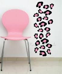 leopard print wall decals black pink