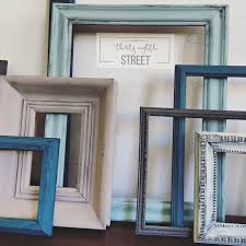hand painted picture frames ways to recycle old frames refinished frames painted frames