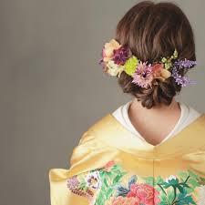 和装に合わせたい可愛い花嫁ヘアアレンジ集 Marryマリー Floral