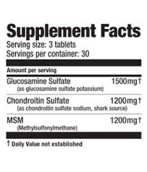 ultimate nutrition glucosamine chondroitin msm 90 tab 90 no s unfalvoured