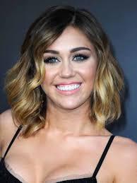 Miley Cyrus Short Hair Brown