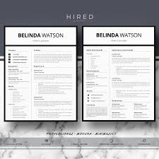 Minimalist Resume Professional Modern and Minimalist Resume Template for MS Word 78