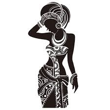 beautiful black woman wall sticker vinyl art poster stickers african woman wall decals home decor on black woman silhouette wall art with online shop beautiful black woman wall sticker vinyl art poster