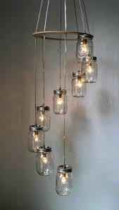 mason jar chandeliers spiral mason jar chandelier rustic hanging pendant lighting glass jar chandelier diy mason